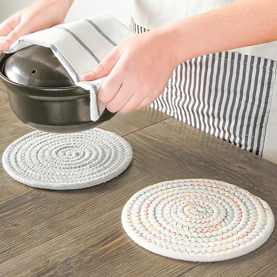 耐熱墊 餐桌墊 隔熱墊 碗墊 鍋墊 盤子墊 防燙 杯墊 圓形 日式棉質隔熱墊(大)【N440】生活家精品