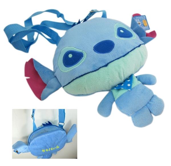 【卡漫城】 史迪奇 玩偶 側背包 高25cm ㊣版 造型 斜背包 絨毛 娃娃布偶 Stitch 幼兒兒童 星際寶貝