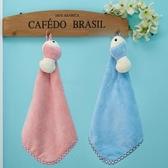 2條裝掛式擦手巾可愛花朵星星珊瑚絨廚房毛巾加大強力吸水不掉毛【快速出貨】