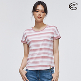 ADISI 女短袖COOLMAX沁涼條紋休閒圓領T AL2011052 (S-2XL) / 城市綠洲 (涼感、透氣、輕量、吸濕排汗)