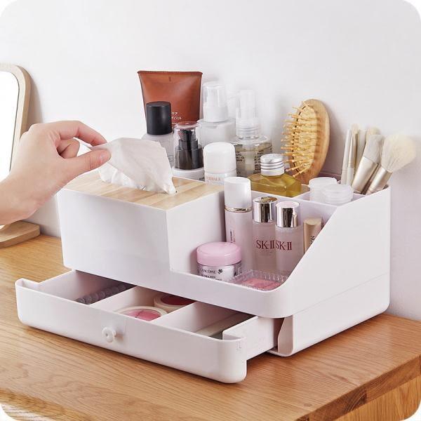 桌面收納盒 浴室洗漱臺整理盒護膚品儲物盒