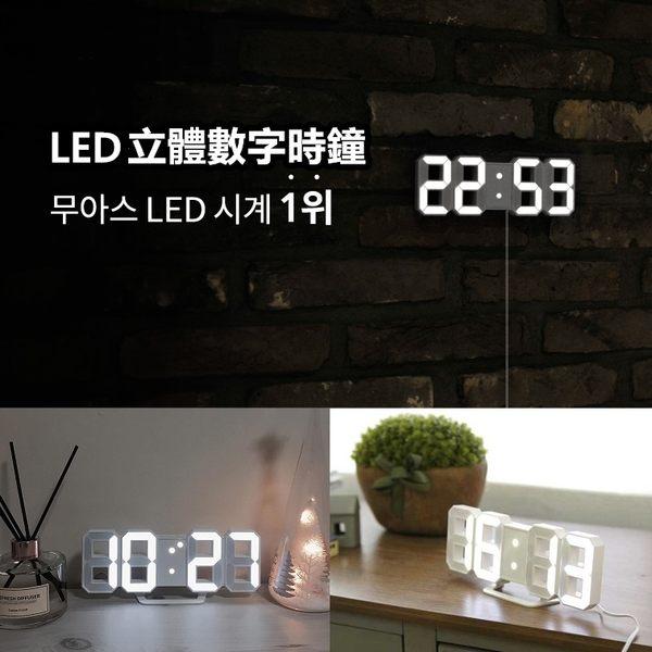 3D立體數字時鐘 立體電子時鐘 LED時鐘 時尚工業風 可壁掛 數字鐘 電子鬧鐘 掛鐘【RS752】