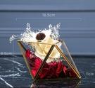 北歐風幾何玻璃罩花房幹花擺件創意永生花辦公室擺設家居軟裝飾品YYJ 易家樂