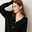 女士春季中長款寬松毛針織衫外套開衫V領毛衣防曬衫長袖薄款