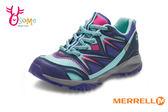 MERRELL 女童運動鞋 中童 防水 透氣 耐磨抓地 CAPRA B LL WP 多功能綁帶運動鞋G8362#紫色◆OSOME奧森童鞋