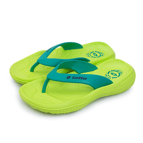 LIKA夢 LOTTO 緩震夾腳、人字拖鞋 台灣製造 螢光綠 2855 男