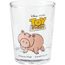 SUNART 透明迷你玻璃杯 50ml 迪士尼 火腿豬_NR24189