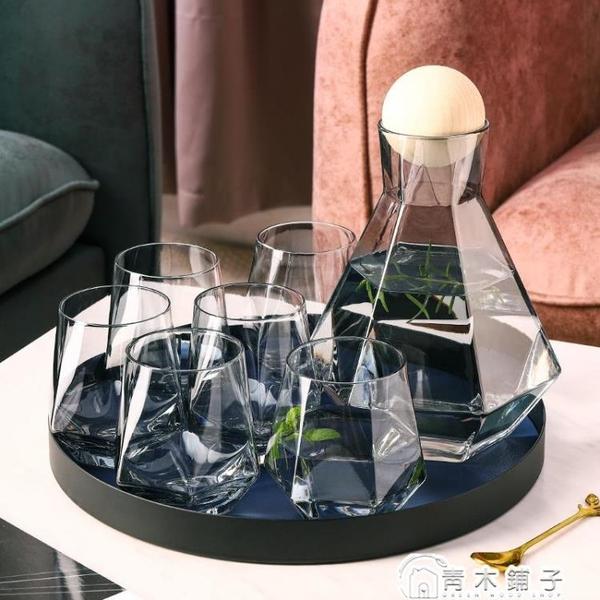 冷水壺套裝玻璃涼白開水壺北歐創意水杯套裝日式扎啤壺果汁壺客廳 青木鋪子