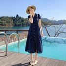 雪紡連身裙短袖洋裝S-XL9301夏高腰...