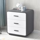 床頭櫃 ins床頭櫃簡約現代儲物櫃輕奢北歐臥室床邊櫃白色收納整裝免安裝 2021新款