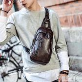新款休閒胸包男韓版腰包皮質小包包男士斜背包單肩包運動背包潮包   電購3C