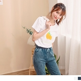 《AB13353》輕甜手繪檸檬燙印圖短袖高含棉上衣/T恤 OrangeBear