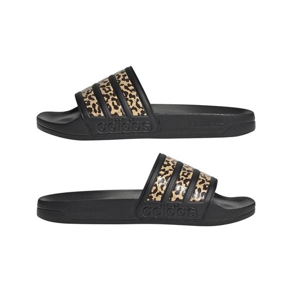 adidas拖鞋 女拖鞋 ADILETTE SHOWER 運動拖鞋 豹紋拖鞋 休閒拖鞋 室內室外拖鞋 T9336