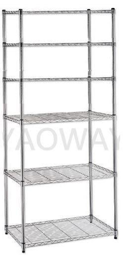 【耀偉】45X90X180(6F)六層重量型電鍍鐵架◎鍍鉻架/鐵架/收納架/DIY架