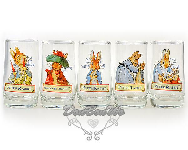 通販屋-彼得兔曲線透明玻璃杯子水杯酒杯5款102101