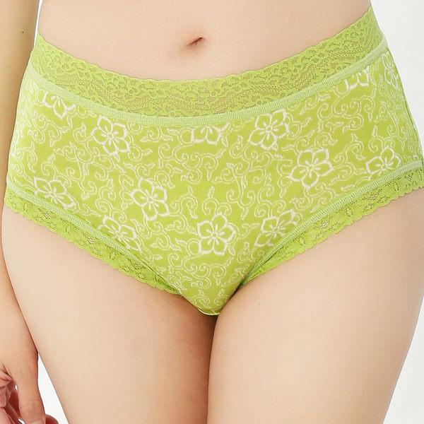 富貴梅花100%蠶絲內褲-866(綠)
