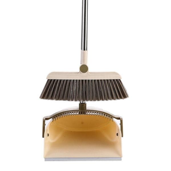 【DW170】防風畚箕掃把組 可折疊防風刮齒簸箕 不沾手掃把組 可站立收納 掃把畚斗組 EZGO商城
