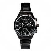 【FILA 斐樂】經典簡約三眼設計鋼帶腕錶-個性黑/38-009-002/台灣總代理公司貨享兩年保固