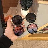 墨鏡 ins墨鏡女韓版個性圓臉顯瘦街拍太陽鏡夏季出游遮陽 一件82折