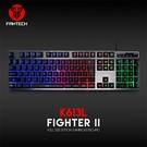 FANTECH K613L 多色燈效鋁合金面板鍵盤 黑