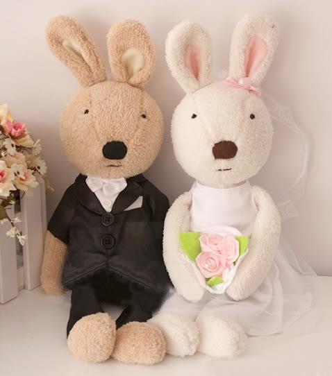 娃娃屋樂園~Le Sucre法國兔砂糖兔(結婚唯一款)90cm每對2200元另有30cm45cm60cm