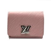 【台中米蘭站】全新品 Louis Vuitton Twist XS EPI 轉釦三折短夾 (M63323-櫻花粉)