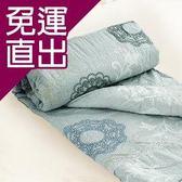 米夢家居 100%精梳純棉兩用鋪棉雙人被套-巴洛克(灰)【免運直出】