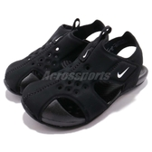 Nike 涼鞋 Sunray Protect 2 TD 黑 白 運動鞋 魔鬼氈 小朋友 小童鞋【PUMP306】 943827-001