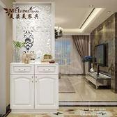 玄關隔斷櫃客廳 裝飾櫃 進門玄關櫃鞋櫃白色烤漆門廳裝飾屏風櫃 QM依凡卡時尚