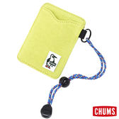 CHUMS 日本 Sweat 可扣式 雙層證件票卡夾/悠遊卡夾 檸檬綠 CH6009212621