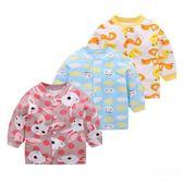 女童裝 寶寶純棉長袖T恤嬰兒春秋打底衫上衣春裝男童2女童幼兒1衣服0歲3