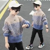 兒童毛衣 男童毛衣2019秋冬裝新款兒童套頭加絨加厚水貂絨男孩針織衫打底衫