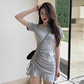 法國小眾桔梗裙子夏季新款潮氣質包臀魚尾黑色緊身連身裙女裝 新年钜惠