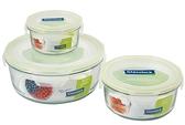 Glasslock 六件式圓形收納強化玻璃微波保鮮盒組‧格拉氏洛克-【Fruit Shop】