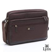 Lynx - 山貓經典款爵品雅典橫式機能型側背包-質感咖