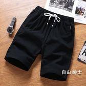 海灘褲短褲男夏天運動5五分褲男士休閒中褲夏季寬鬆海灘褲大褲衩潮(1件免運)