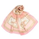 LANVIN希臘風情印花披肩絲巾(粉色)487999
