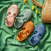 女童涼鞋2021新款小公主軟底小童夏包頭INS小女孩韓版兒童果凍鞋綠色現貨