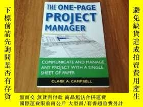 二手書博民逛書店THE罕見ONE-PAGE PROJECT MANAGER128