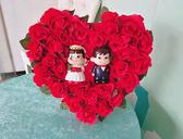 結婚禮車卡通車頭彩 附2條紅彩帶 禮車專用車頭彩 結婚用品 男方結婚用品【皇家結婚百貨】