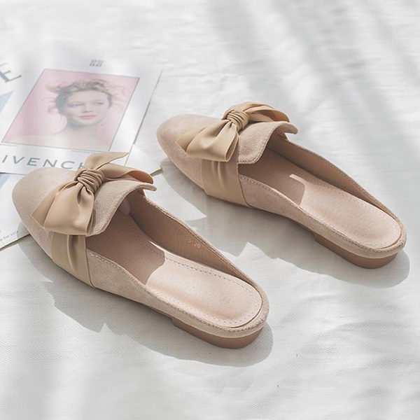2020春季新款網紅少女心無後跟懶人包頭半拖鞋女外穿時尚百搭平底