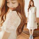 2018夏季新款韓版蕾絲女學生短袖收腰顯...