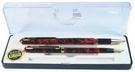 《享亮商城》A-0351 紅桿 琺瑯鋼珠筆 對筆 巨倫