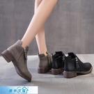 馬丁靴 雙拉鏈馬丁靴女英倫風顯瘦網紅靴子女秋冬2020新款百搭復古小短靴 漫步雲端