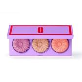 CLINIQUE 粉嫩花漾腮紅盤-羅蘭粉 3.5g+奶油粉 3.5g+甜瓜橘 3.5g