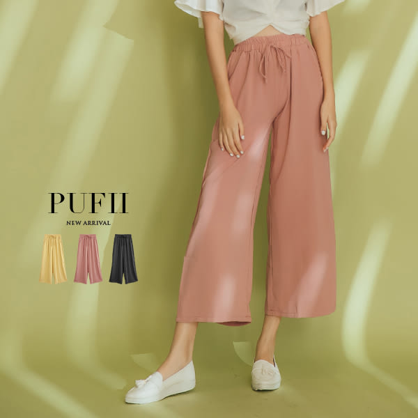 現貨★PUFII-褲子 雪紡長寬褲-0530  夏【CP16813】