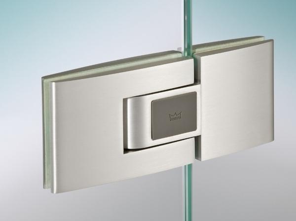 【麗室衛浴】 德國原裝 DORMA TENSOR承重油壓自動回歸鉸鏈 (玻對玻180度)