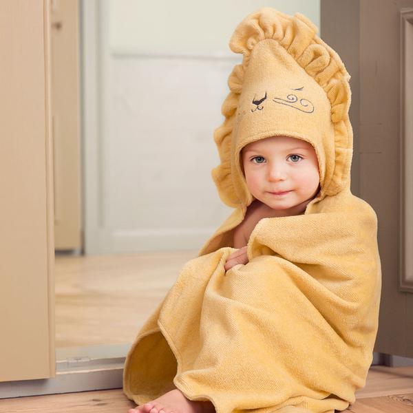 浴巾 瑞典皇室御用 Elodie Details 連帽浴巾 / 浴袍 - 蜂蜜獅子 103875