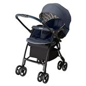 【愛吾兒】Aprica LUXUNA Cushion 四輪自動定位嬰兒車-天河藍鑽