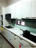 【PK 廚浴 館】高雄客製化量身訂作歐化系統櫥具一字型流理台LG 台面水晶門☆ 店面